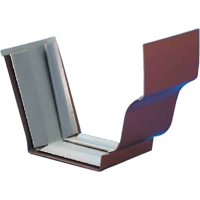 Amerimax 5 In. Galvanized Brown Slip-Joint Gutter Connector