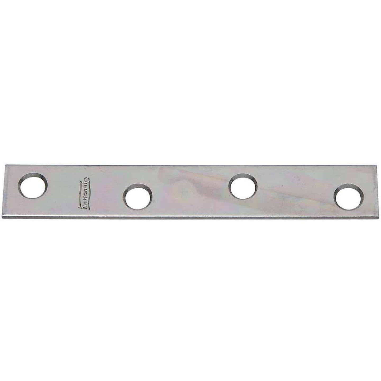 National Catalog 118 4 In. x 5/8 In. Zinc Steel Mending Brace (4-Count) Image 1