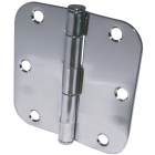 Ultra Hardware 3-1/2 In. x 5/8 In. Radius Polished Chrome Door Hinge (3-Pack) Image 1