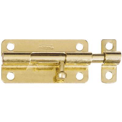 National 4 In. Brass Steel Door Barrel Bolt