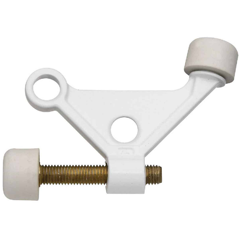 National White Zinc Hinge Pin Door Stop Image 1