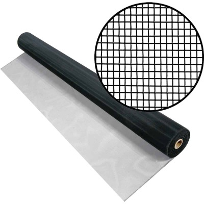 Phifer 48 In. x 100 Ft. Black Aluminum Screen