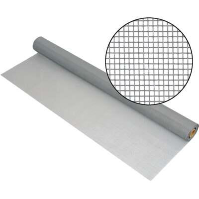 Phifer 30 In. x 100 Ft. Gray Fiberglass Mesh Screen Cloth