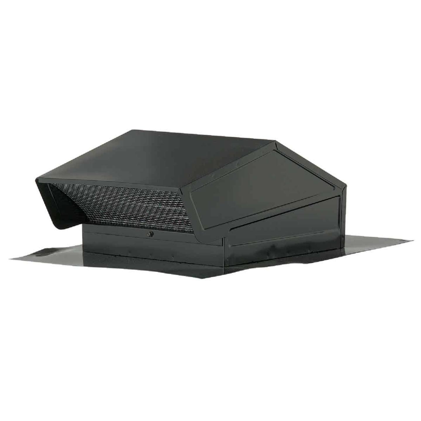 Broan-Nutone 8 In. Black Steel Back Draft Damper Roof Vent Cap Image 1