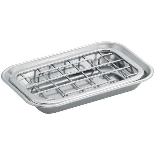 iDesign Gia 2-Piece Stainless Steel Soap Dish