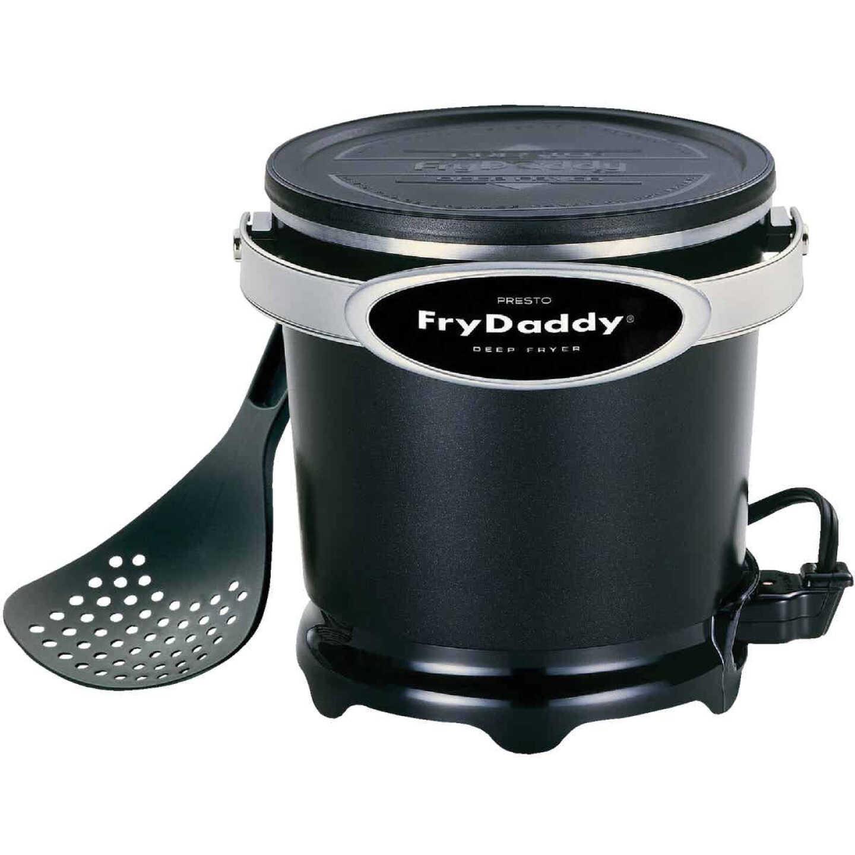 Presto FryDaddy 1 Qt. Black Aluminum Deep Fryer Image 1