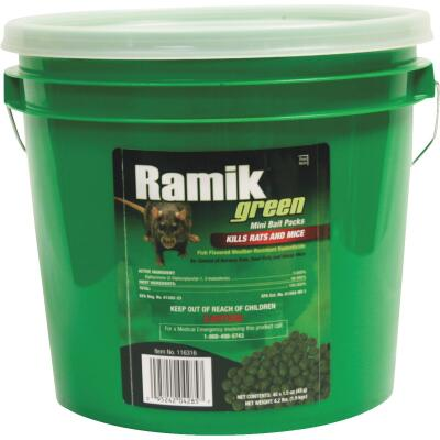 Ramik Green Pellet Bait Pack Rat And Mouse Poison (45-Pack)