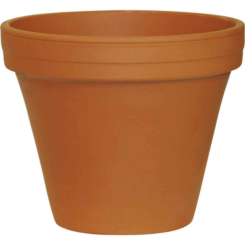 Ceramo 5-1/4 In. H. x 6 In. Dia. Terracotta Clay Standard Flower Pot Image 1