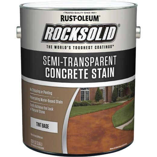 Rust-Oleum RockSolid Semi-Transparent Concrete Stain, 1 Gal., Tint Base