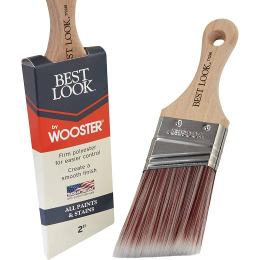 Best Look By Wooster 2 In. Angle Sash Short Handle Paint Brush