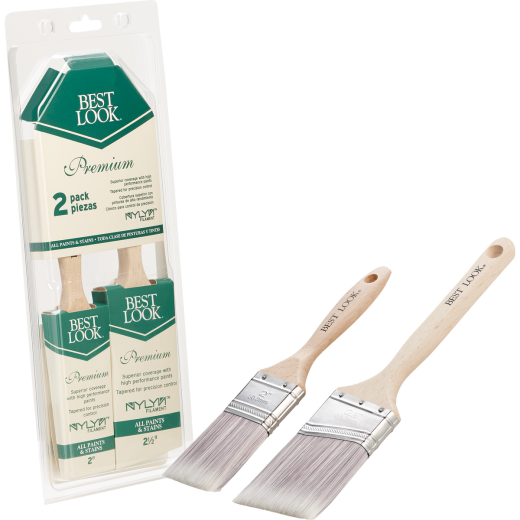 Best Look Premium Paint Brush Set (2-Piece)